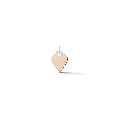Dora 18K Rose Gold Diamond Mini Heart Charm