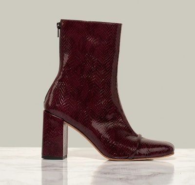 Gigi Ankle Boot in Burgundy