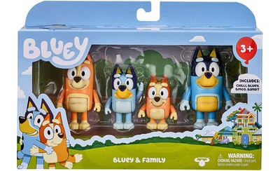 "Bluey & Family 4 Pack of 2.5-3"" Poseable Figures"