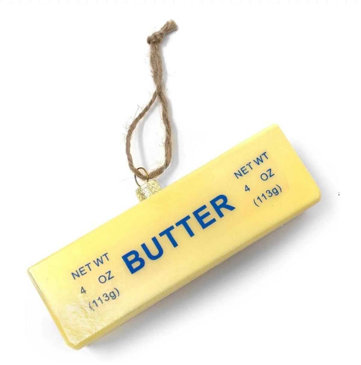Stick of Butter Glass Ornament
