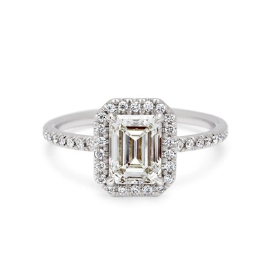 ELEONORE DELICATE PAVE RING WITH HALO WHITE GOLD & WHITE DIAMOND