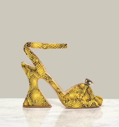 Kels Retro Sandals in Sun Yellow