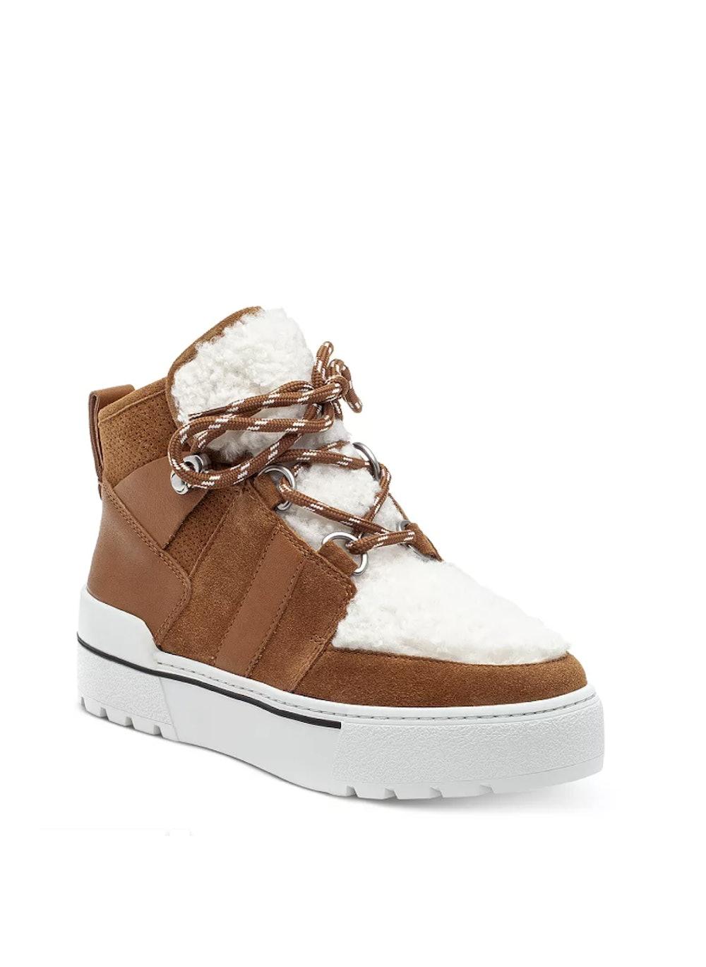 Nell Faux Shearling Sneaker Booties