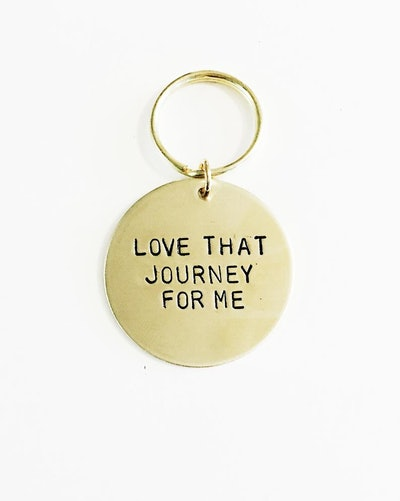 Love That Journey For Me Handstamped Keychain