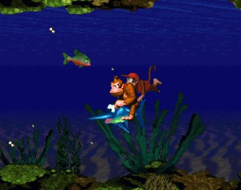 Donkey Kong Country's levels varied in their mechanics, and allowed for help from animal friends.