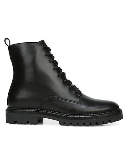 Cabria Lug-Sole Leather Combat Boots