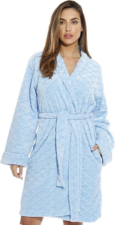 Just Love Kimono Velour Scalloped Bath Robe