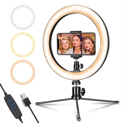 LED Ring Light with Tripod Stand and Phone Holder