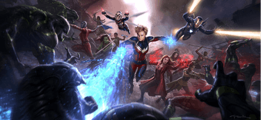 'Avengers: Endgame' concept art by Andy Park.