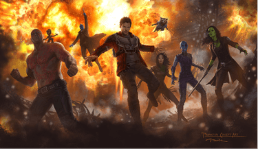 'Guardians of the Galaxy' concept art by Andy Park.