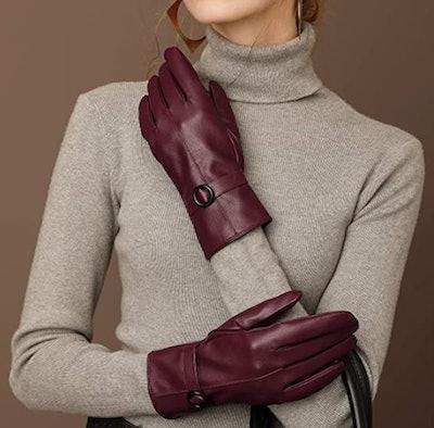 Dsane Faux-Leather Gloves