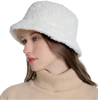 Muryobao Faux Fur Bucket Hat