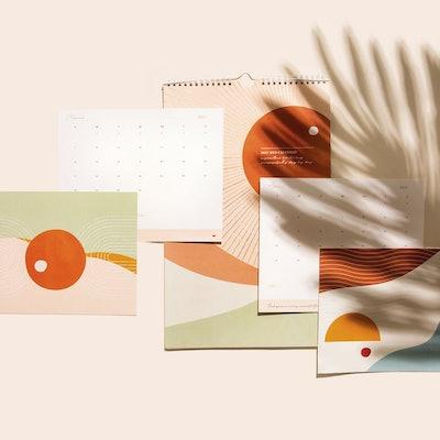 2021 Sun Wall Calendar