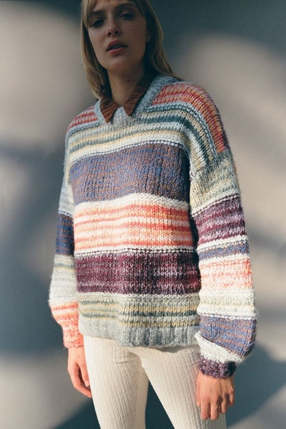 Urban Outfitters Blythe Striped Pullover Sweater