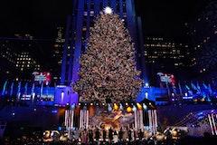 The 2019 Rockefeller Christmas tree lighting, via NBC press site.