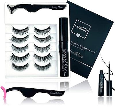 Luxillia Magnetic Eyelashes with Eyeliner Kit