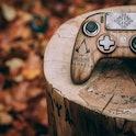 A Nacon Revolution Pro Controller 3 designed for Assassin's Creed Valhalla