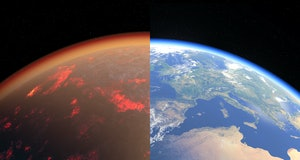Earth now and with a magma ocean