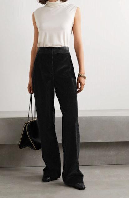 Caylan cotton-corduroy wide-leg pants