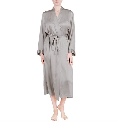 OSCAR ROSSA 100% Silk Long Robe