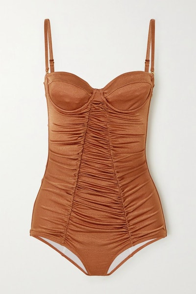 Ann ruched underwired swimsuit