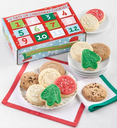 12-Day Advent Calendar Cookie Box