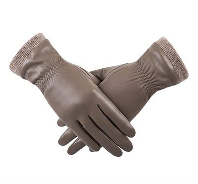 REDESS Wool-Lined Leather Driving Gloves