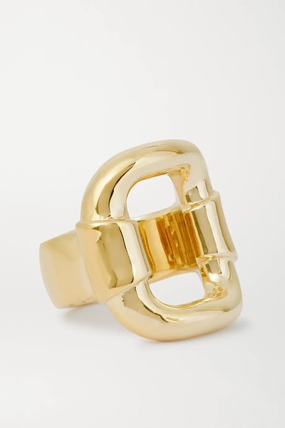 Belt gold-plated ring