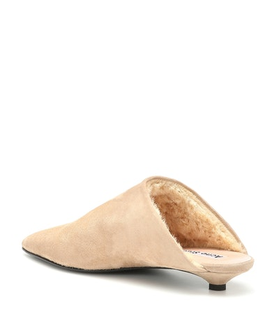 Brion Shearling-Lined Suede Slippers