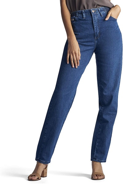 Lee Women's Relaxed-Fit Side Elastic Tapered-Leg Jean