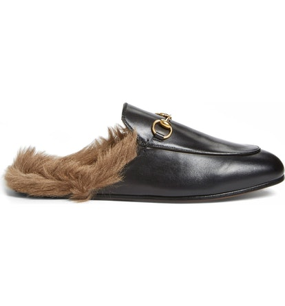 Princetown Genuine Shearling Loafer Mule