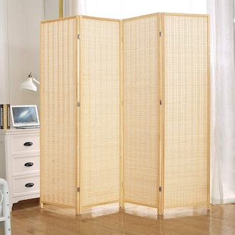 JOSTYLE Room Divider with Natural Bamboo