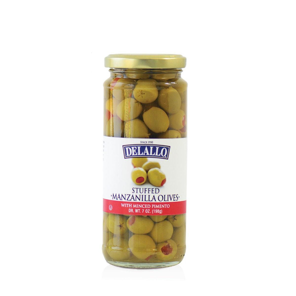 DeLallo Stuffed Manzanilla Olives 7 oz.