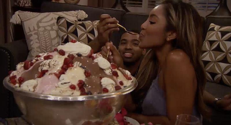 Tayshia and Ivan eating ice cream on 'The Bachelorette.'