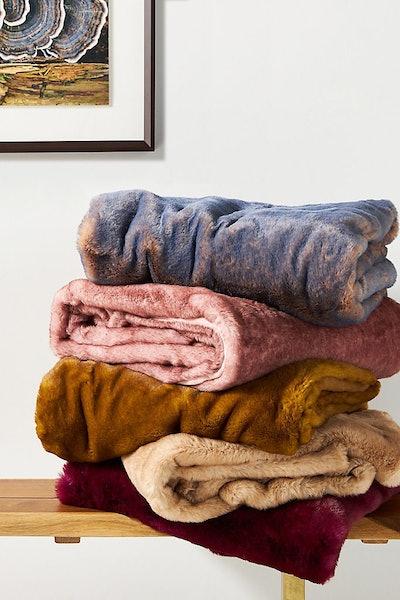Aleksi Faux Fur Throw Blanket