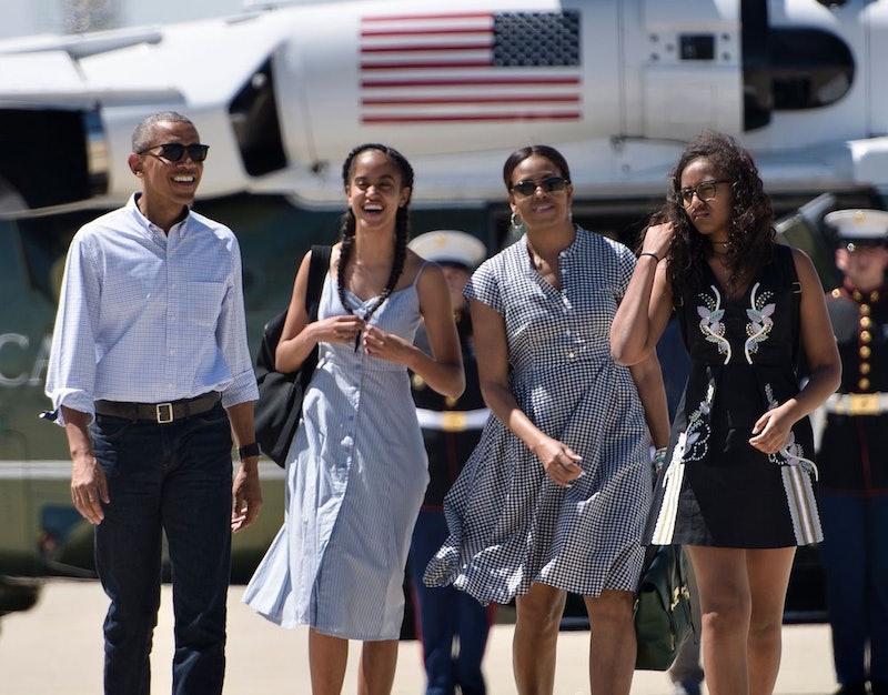 Barack, Sasha, Malia, and Michelle Obama