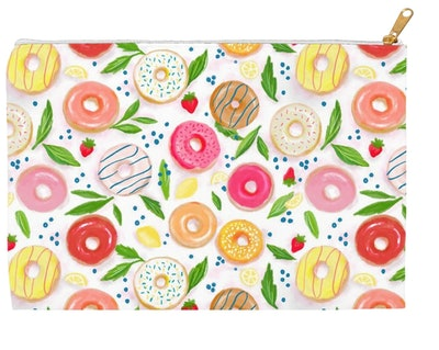 Zipper Accessory Pouch - Donut Design