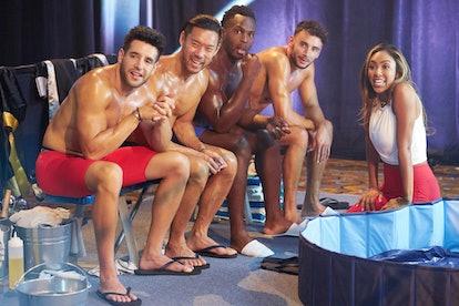 Ed, Joe, Brendan, and Tayshia in 'The Bachelorette'