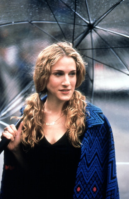 Carrie Bradshaw Hairstyle: Double Ponytails