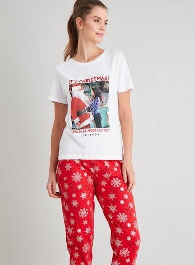 Christmas Friends Cream & Red Pyjamas