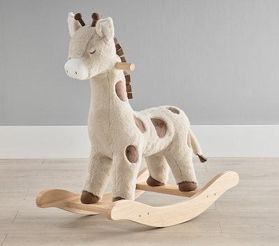 Giraffe Plush Nursery Rocker