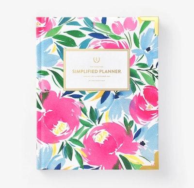2021 Weekly Simplified Planner in Happy Floral