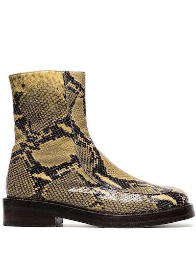 Snakeskin Embossed Boots