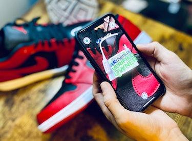 ARthentix sneaker verification app.
