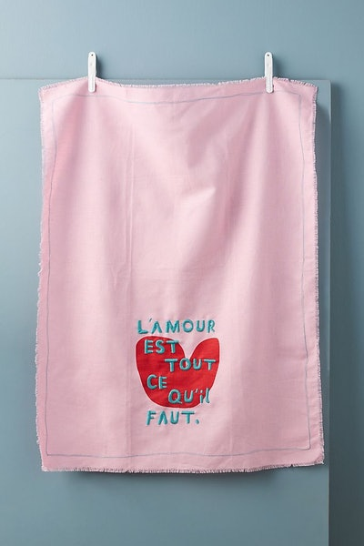The Adventures Of L'Amour Dish Towel