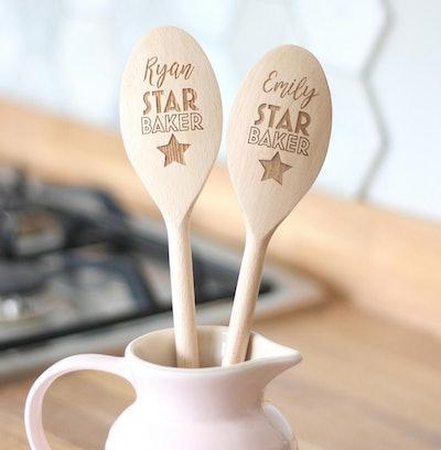 Personalised Star Baker Wooden Spoon