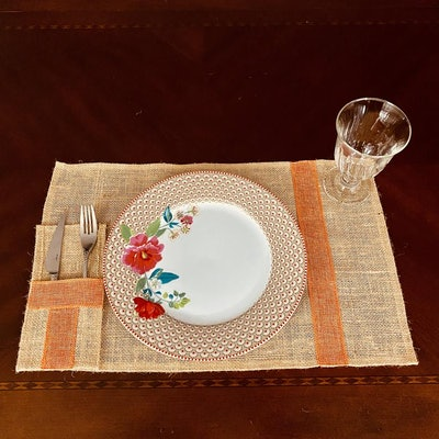 Thanksgiving Burlap Placemats