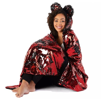 Minnie Mouse Reversible Sequin Hooded Throw Blanket