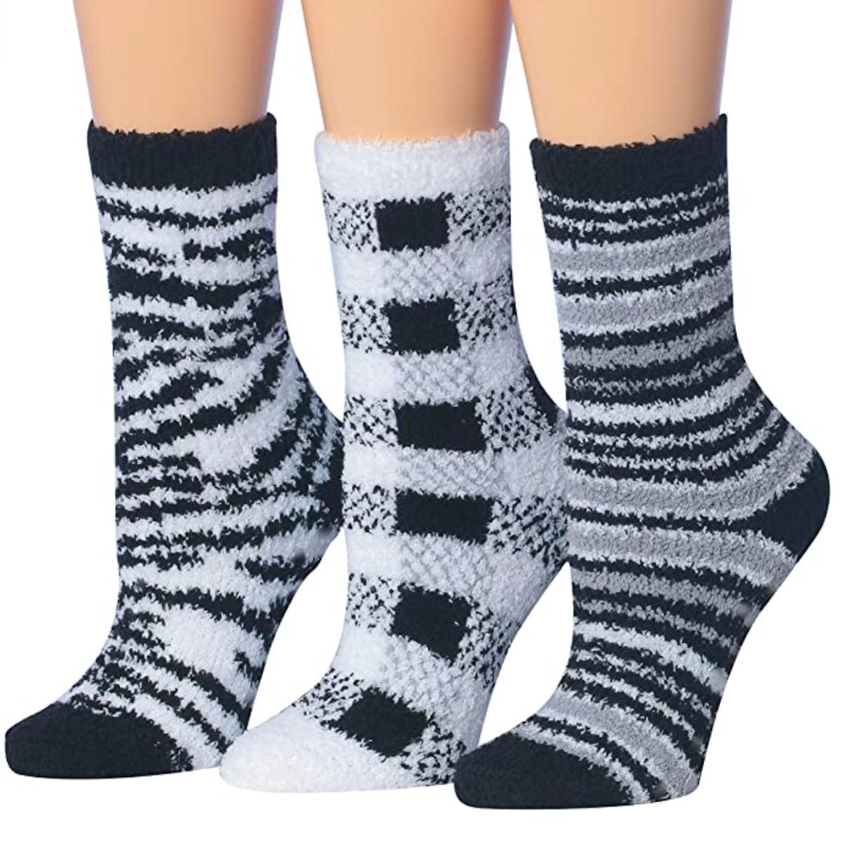 Tipi Toe Microfiber Anti-Skid Socks (3 Pairs)