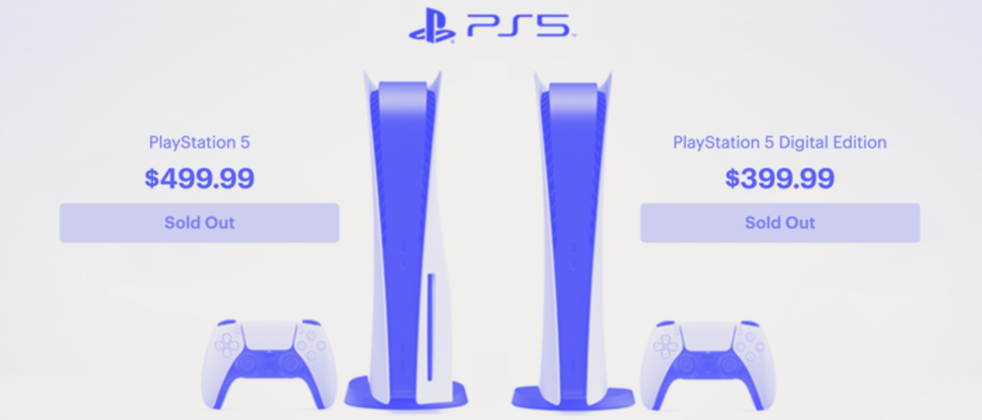 PlayStation 5 Sold Out Image
